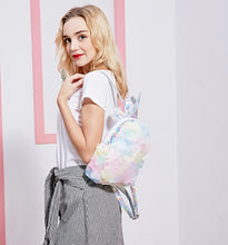 Magic Hologram Unicorn Pastel Plush backpack