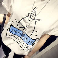 Women T-shirt - Nothing Is Impossible T Shirt