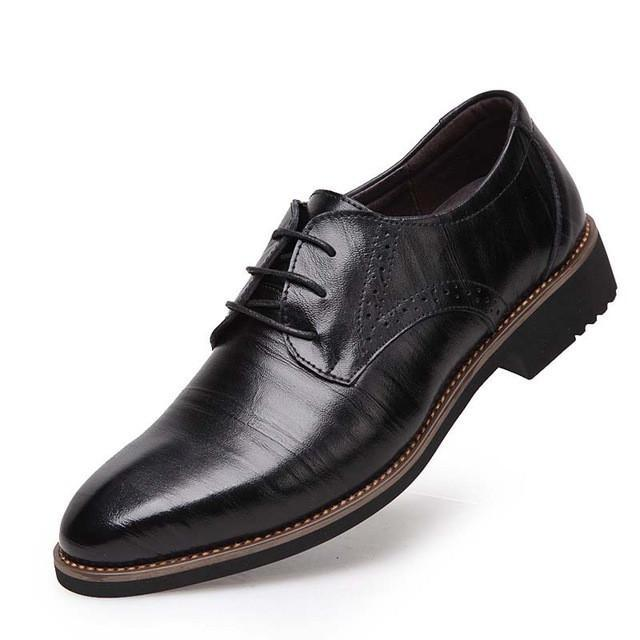 100% Genuine Leather Mens Dress Shoes-Men Shoes-Balabe