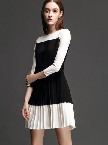 Black and White Pleated