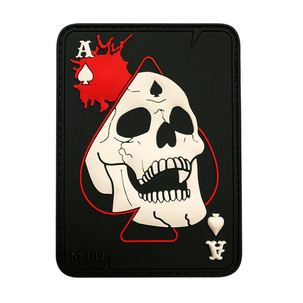 Ace Of Spade Death Card Skull Patch (PVC)