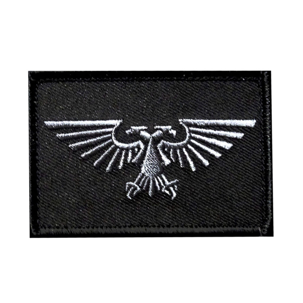 Imperial Aquila Warhammer 40k Patch Embroidered Hook Miltacusa