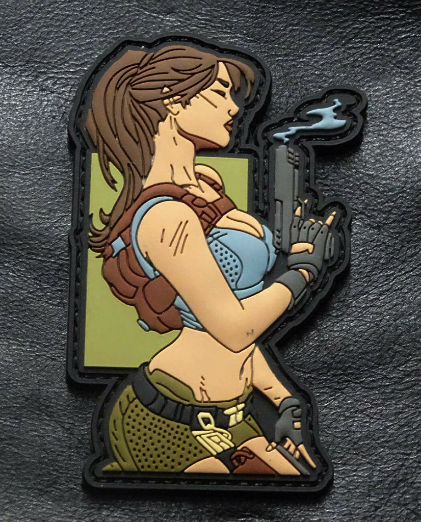 Shot show morale patch pin-up girl