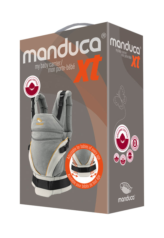 manduca XT Pure Cotton - DenimBlack/Toffee & FREE fumbee strap covers chocolate (twin-pack) rrp$29.95