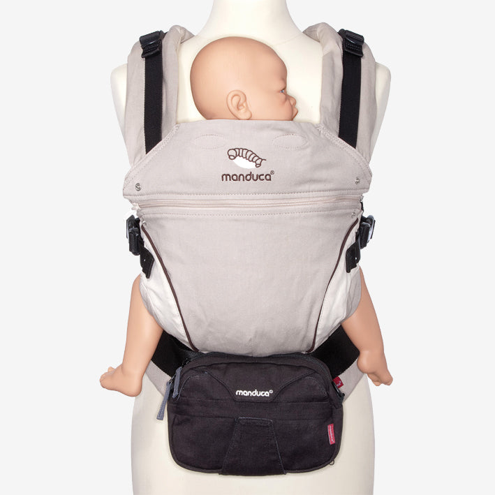 Super-useful waist pouch for baby carriers