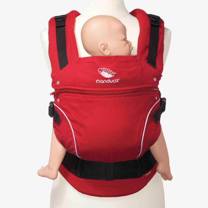 manduca pure cotton organic baby carrier - chilli red