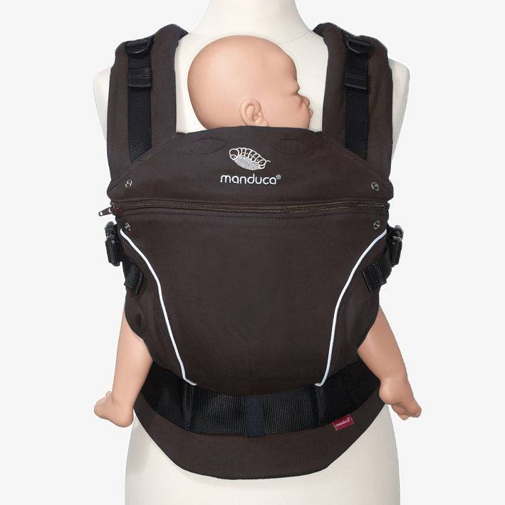manduca pure cotton organic baby carrier - coffee brown