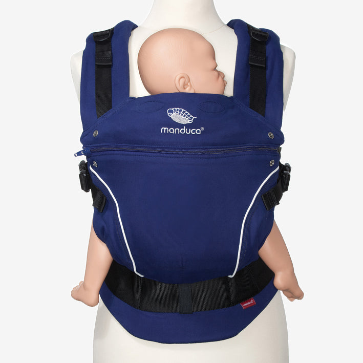 manduca pure cotton organic baby carrier - royal blue