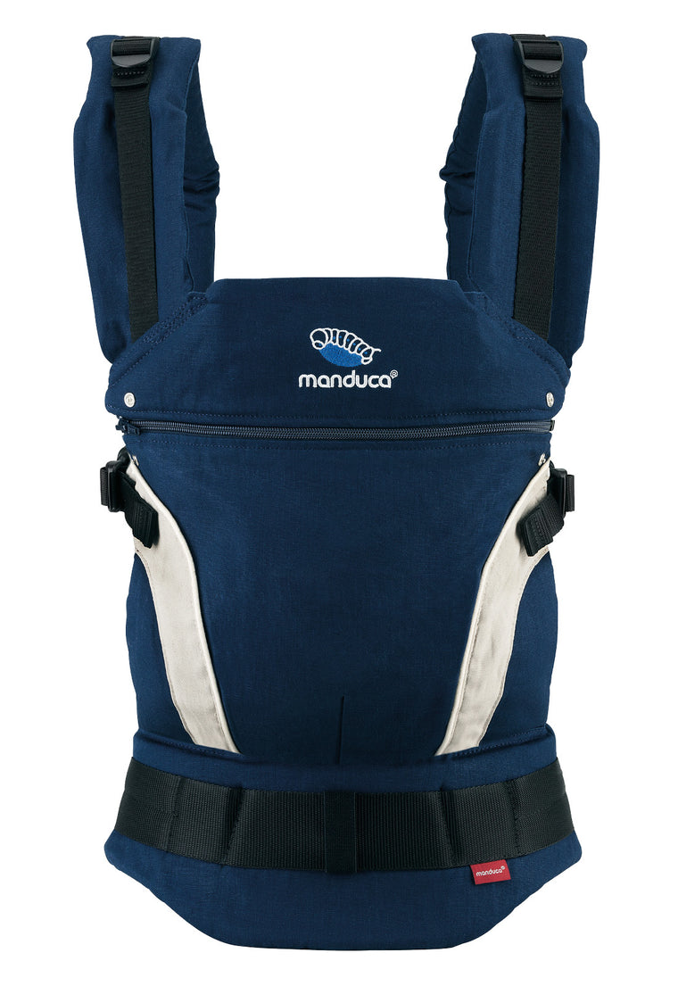 manduca first hemp/cotton carrier - navy & BACK IN STOCK MID JUNE
