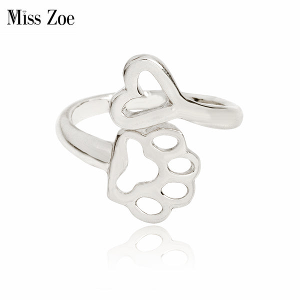 0aea970182c1d Always By My Heart Adjustable Ring - Dog Jewelry
