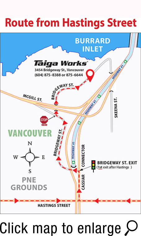 Taiga Works Showroom maps1