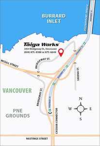 Map | Taiga Works.com Outdoor Gear Vancouver Canada