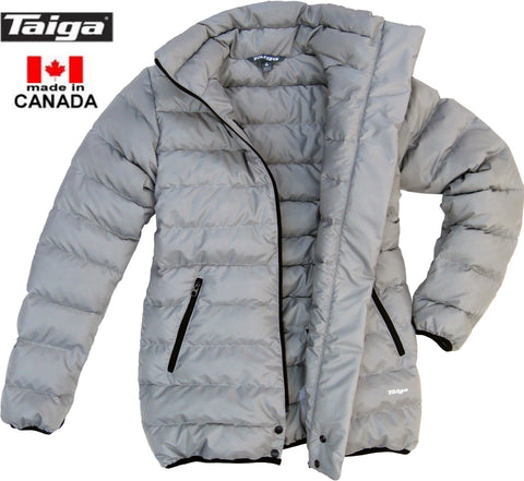 Narvik Down Liner Coat (Women's) Granite - Taiga Works