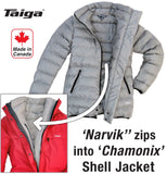 Narvik Down Liner Coat (Women's) zip into shell jacket - Taiga Works