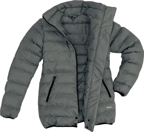 Narvik Down Liner Coat (Women's) Charcoal -Taiga Works