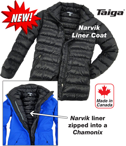 Narvik Down Liner Coat - Taiga Works