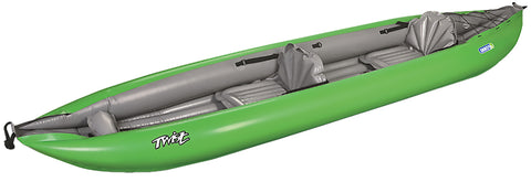 Twist 2/1 Inflatable Kayak Green - Taiga Works