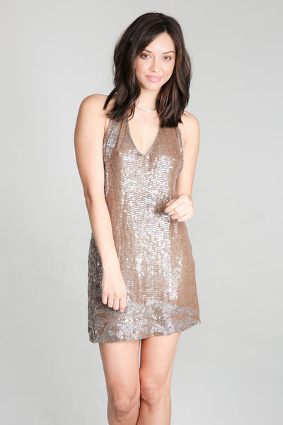 Night Fever Dress - steele-gray-rose