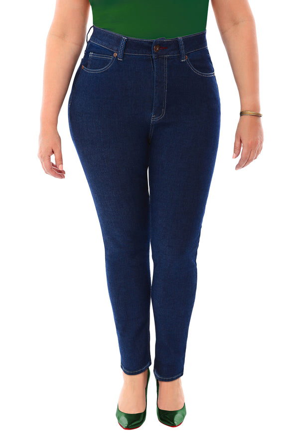 360 Stretch High Rise Ultra Skinny Denim Jeans (Jeggings) in Blue Depths - steele-gray-rose