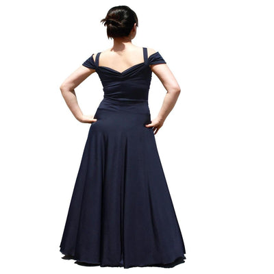 Evanese Women's Plus Size Elegant Long Formal Evening Dress With Shoulder Bands - steele-gray-rose