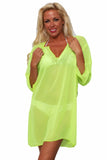 Chiffon Long Sleeve Swimwear Cover-Up