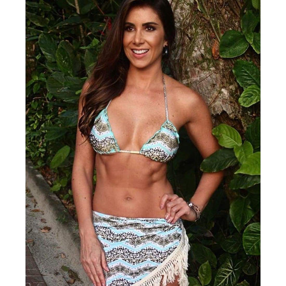 Animal Print Bikini Set - steele-gray-rose