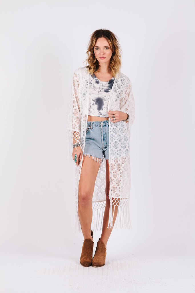 Love Lace Caftan - steele-gray-rose