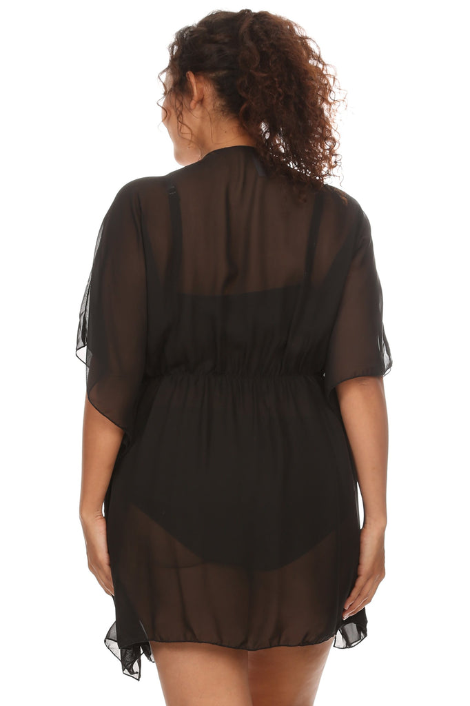 Chiffon Open Front Swimwear Cover-Up