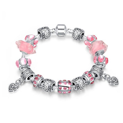 Girls Just Want to Have Fun Pandora Inspired Bracelet - steele-gray-rose