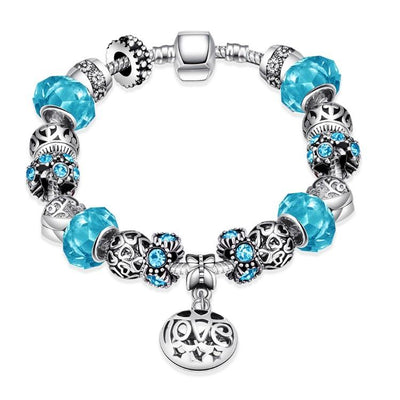 Colors of the Swedish Sea Pandora Inspired Bracelet - steele-gray-rose