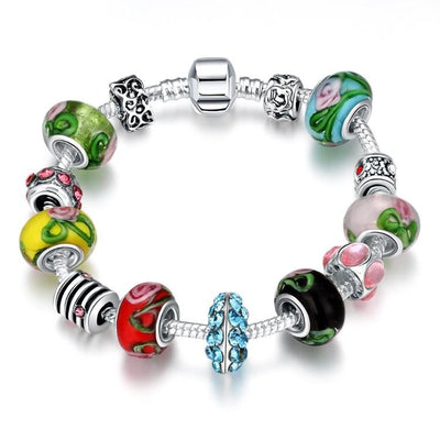 Colors Of the Rainbow Pandora Inspired Bracelet - steele-gray-rose