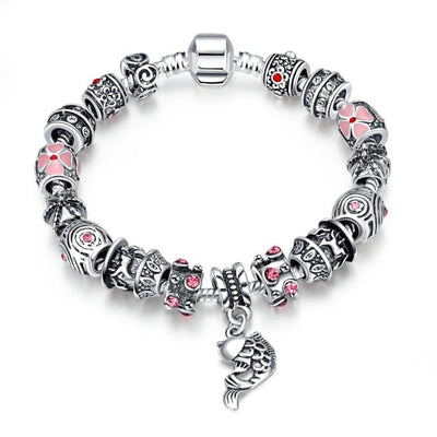 Creative Passion Essence Pandora Inspired Bracelet - steele-gray-rose