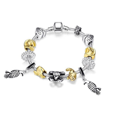 Animals of the Globe Designer Inspird Bracelet - steele-gray-rose