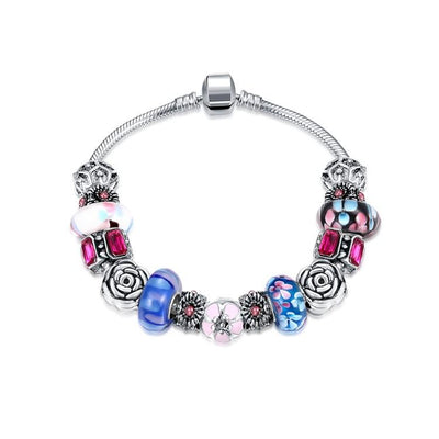 American Love Pandora Inspired Bracelet - steele-gray-rose
