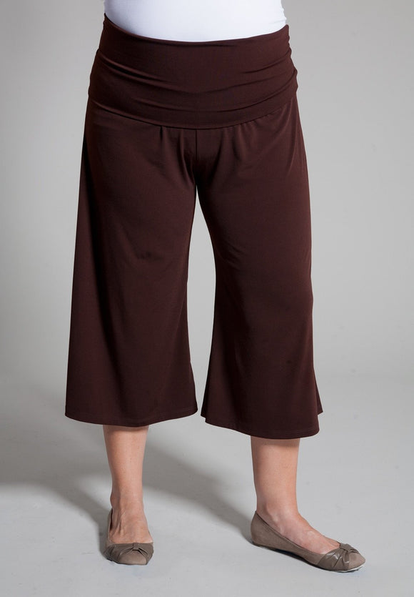 Essential Gaucho Pants - steele-gray-rose