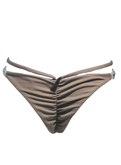 Shanel Strappy Tango Bottom - Brown - steele-gray-rose