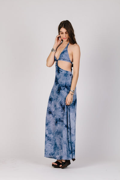 Out of the Blue Maxi Dress - steele-gray-rose