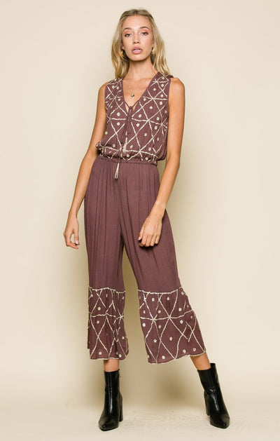 Moonlit Desert Jumpsuit - steele-gray-rose