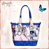 Blossomz Tote Designer Vegan Luxury Leather Tote Bag for Women