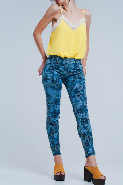 Jeans Reversible in Mid Blue - steele-gray-rose