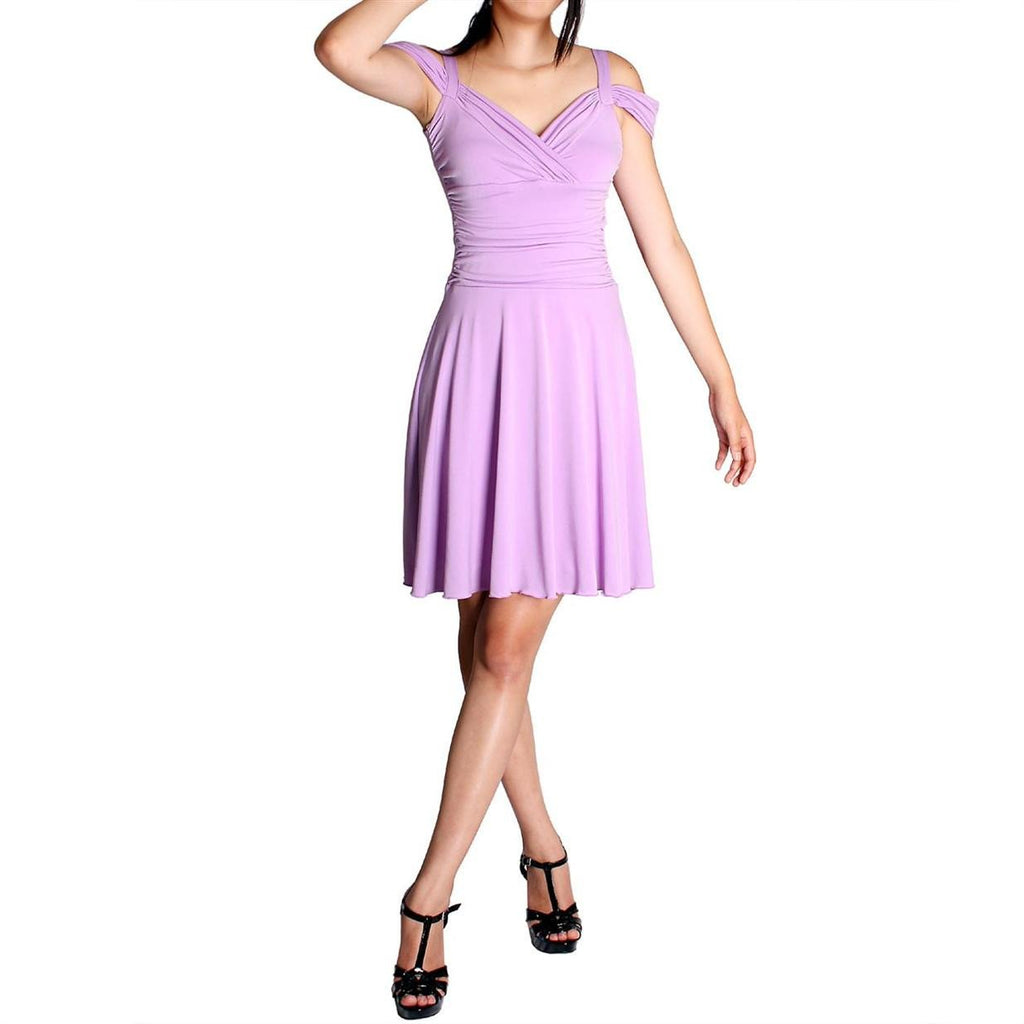 Evanese Women's Plus Size Elegant Short Dress With Shoulder Bands