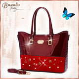 Honey Bee Max Handmade Faux Leather Tote Bag