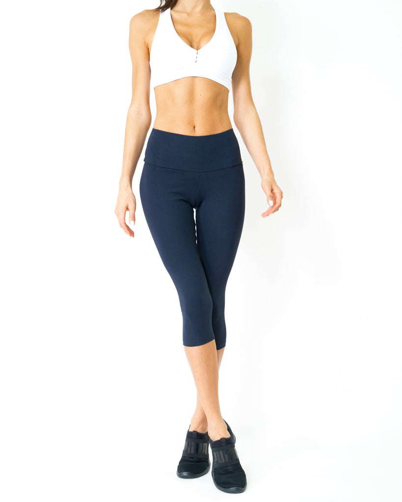 Corsario Thermal-Comfort Capri Leggings - steele-gray-rose
