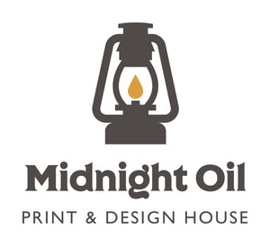 Midnight Oil Print and Design House Logo