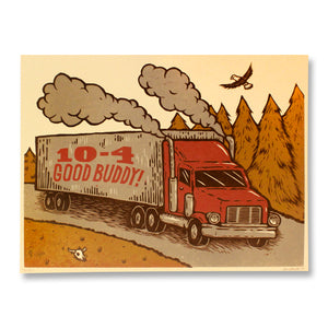 10-4 Good Buddy Art Print