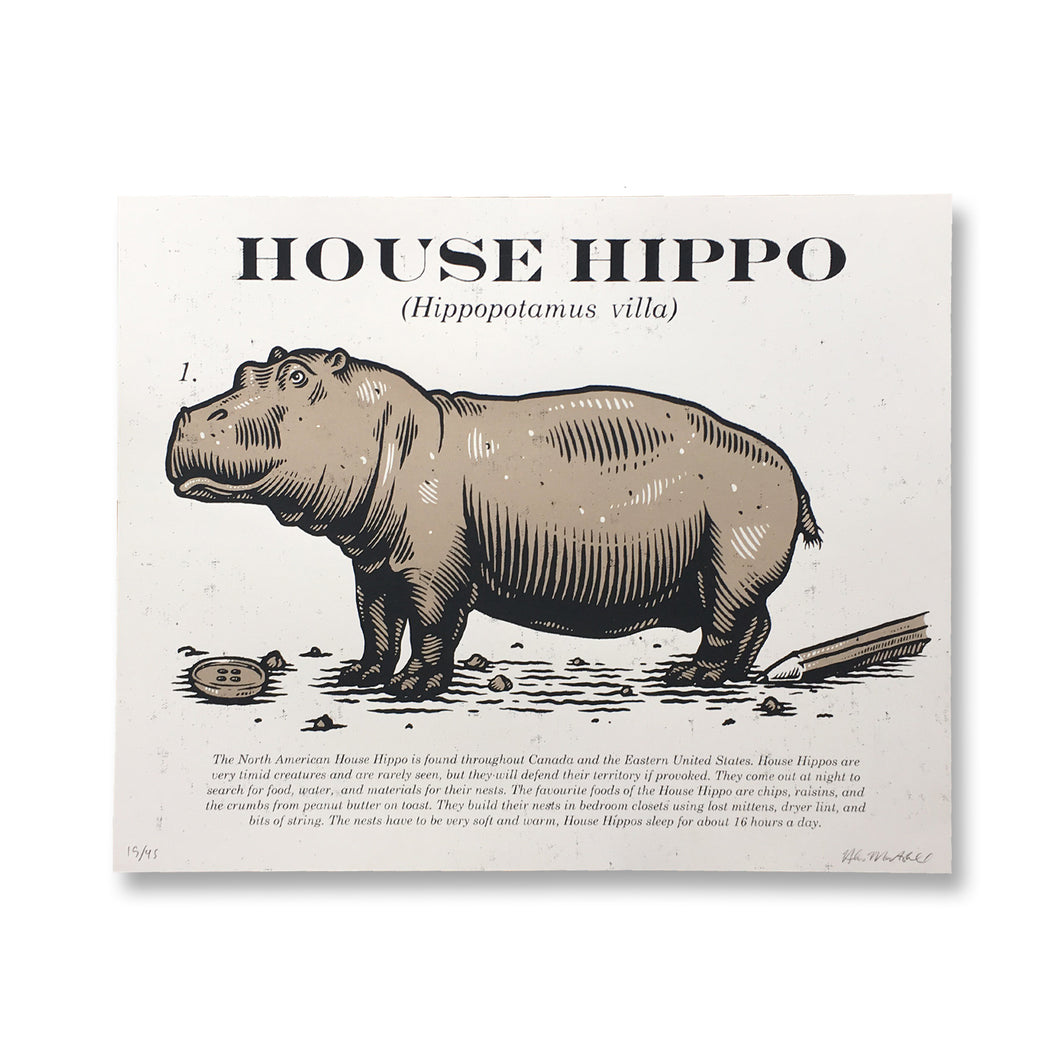 House Hippo Art Print