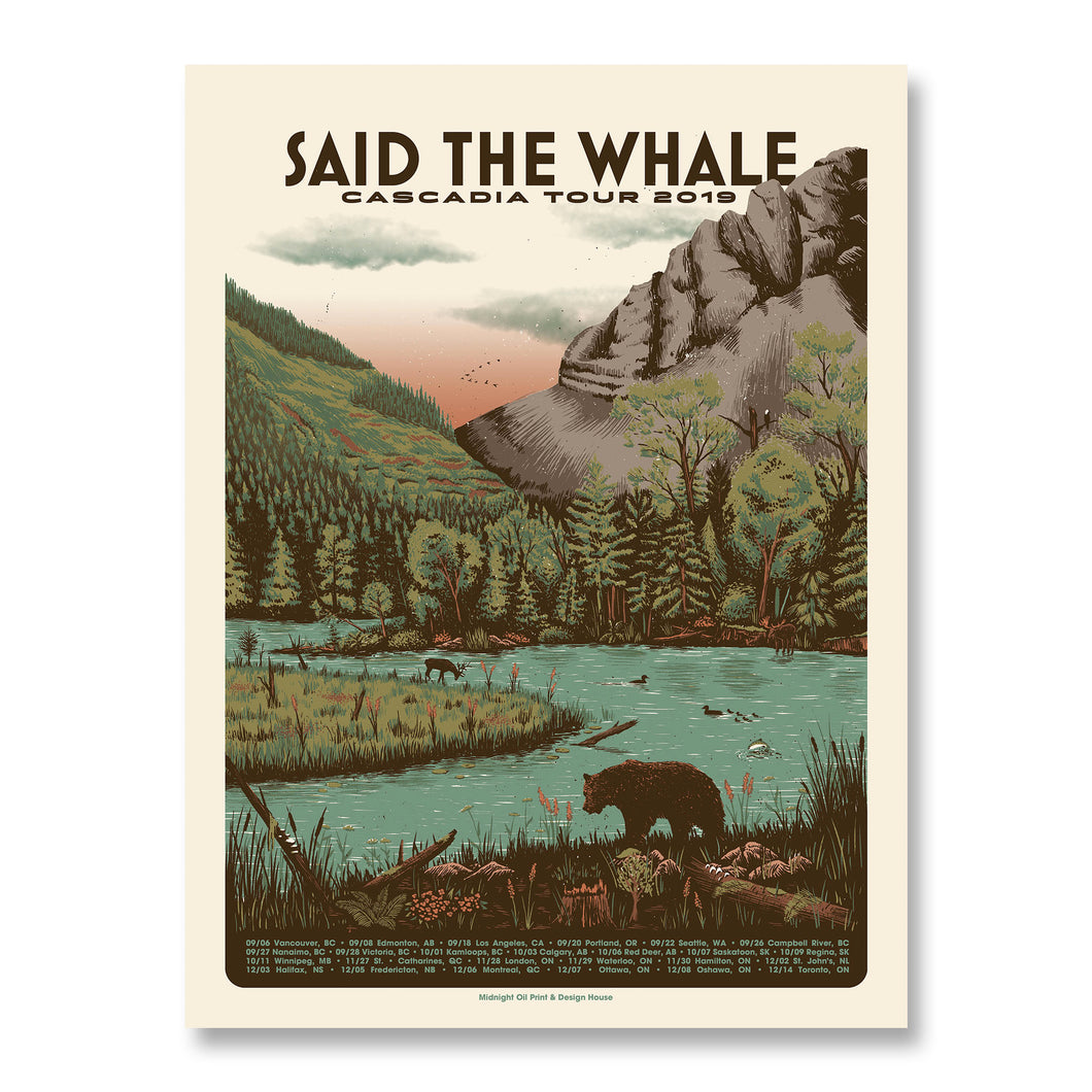 Said The Whale - Cascadia Tour 2019 Gig Poster