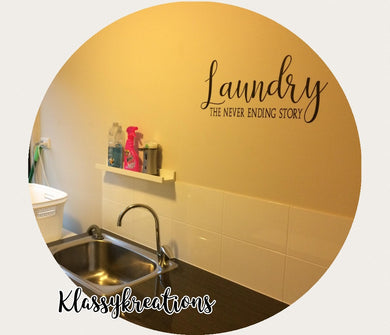 Laundry - Removable wall decal quote