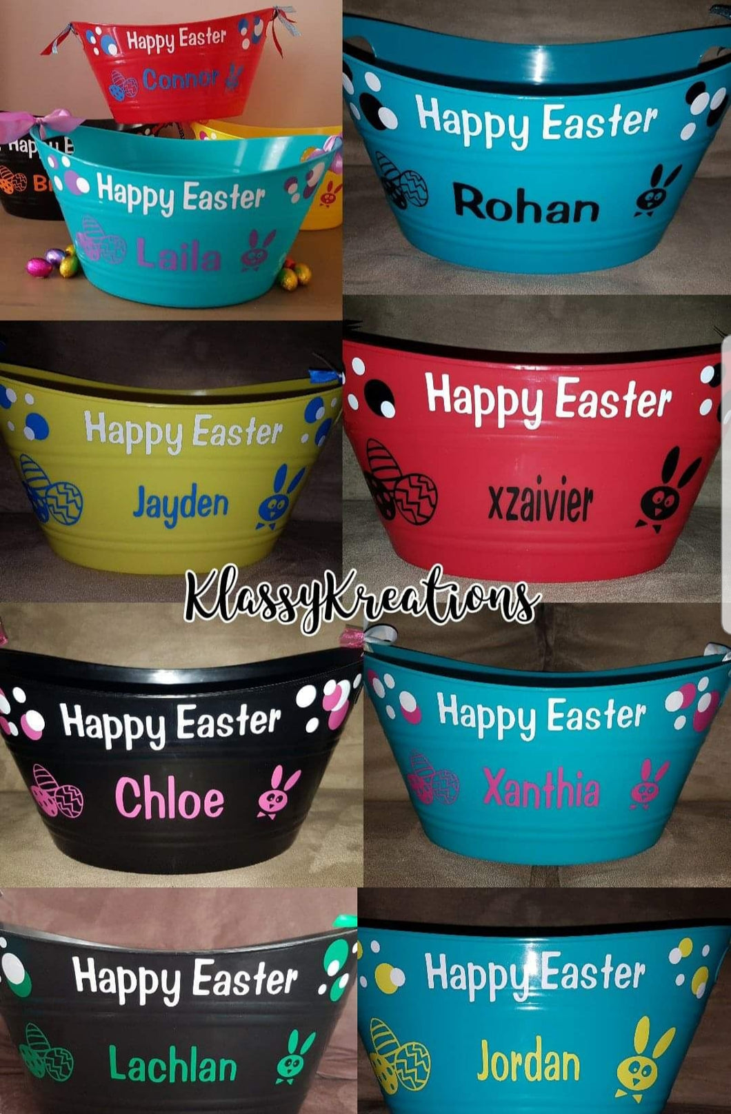 Happy Easter Tubs with Name