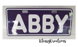 KIDS PERSONALISED NUMBER PLATES